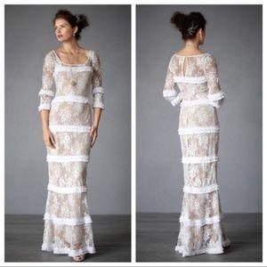 BHLDN Esprit de Corps Wedding Gown Cream Lace